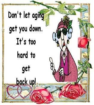 Aging Cartoon don't let aging get you down